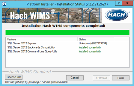 Hach WIMS SQL Server Express install fails when installing