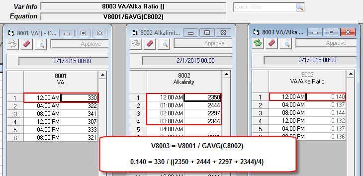 how to tell if variables are volitile in excel