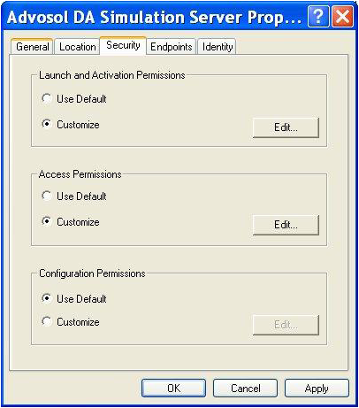 Setting up DCOM for OPC Interfaces [Q10834]