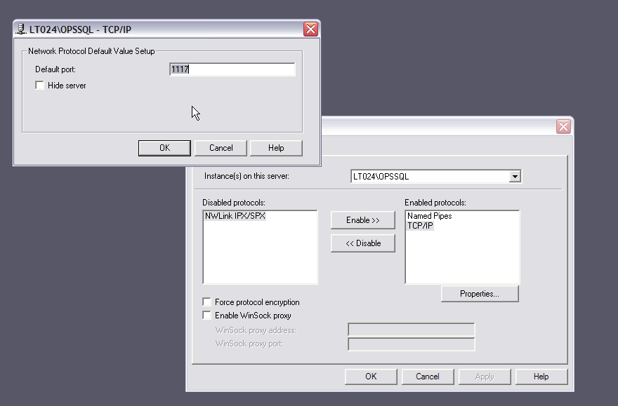 Disabling the Windows Firewall when OPSSQL cannot connect to