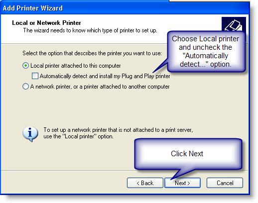 No printer installed [Q12086]